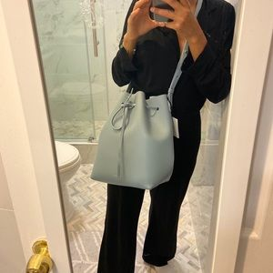 Mansur Gavriel Light Blue Calf Bucket Bag